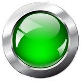 Botón abstracto brillante del Web con el anillo del metal