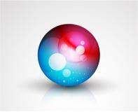 Botón abstracto de la esfera del vector Fotografía de archivo libre de regalías