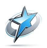 Botón abstracto de la estrella Fotografía de archivo libre de regalías