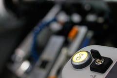 Botón ACEPTABLE e interruptor dominante Foto de archivo libre de regalías