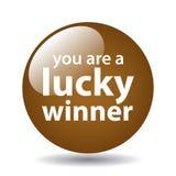Botón afortunado del ganador libre illustration