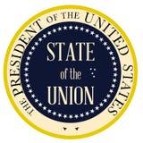 Botón aislado Estado de la Unión libre illustration