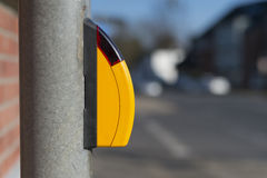 Botón amarillo Fotos de archivo libres de regalías