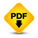 Botón amarillo elegante del diamante del icono de la transferencia directa del pdf stock de ilustración