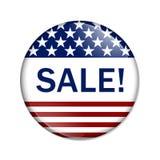 Botón americano de la venta Foto de archivo libre de regalías