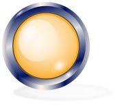 Botón anaranjado en el blanco Imagenes de archivo