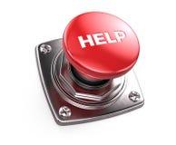 Botón ayuda rojo - concepto de la ayuda ilustración del vector