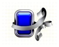 Botón azul Fotografía de archivo libre de regalías