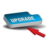 Botón azul de la mejora stock de ilustración