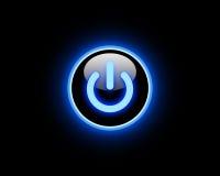 Botón azul de la potencia Fotos de archivo libres de regalías