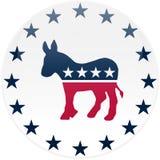 Botón blanco de Democrat