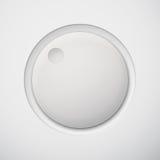 Botón blanco del volumen de la tecnología blanca Imágenes de archivo libres de regalías