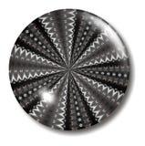 Botón blanco y negro del infinito ilustración del vector