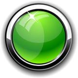 Botón brillante. ilustración del vector