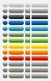 Botón brillante de cristal plástico del Web (coloreado) Foto de archivo