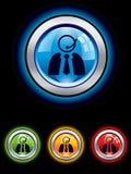 Botón brillante de la ayuda Imagen de archivo libre de regalías