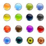 Botón brillante del icono del Web del vector Foto de archivo libre de regalías