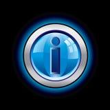 Botón brillante del Info Foto de archivo libre de regalías