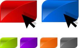 Botón brillante del vector para el diseño de Web. Foto de archivo libre de regalías