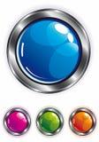 Botón brillante elegante del Web Fotos de archivo libres de regalías