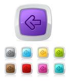 Botón brillante - flecha izquierda Imagenes de archivo