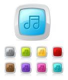 Botón brillante - música Foto de archivo libre de regalías