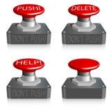 Botón brillante rojo Imagen de archivo libre de regalías