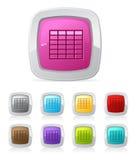 Botón brillante - vector stock de ilustración