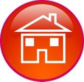 Botón casero rojo Fotos de archivo libres de regalías