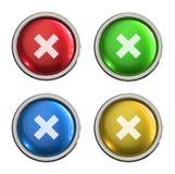 Botón cercano del vidrio del icono libre illustration
