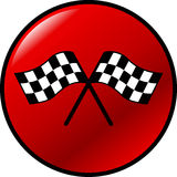 Botón Checkered del vector de los indicadores que compite con Foto de archivo libre de regalías