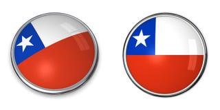 Botón Chile de la bandera Imágenes de archivo libres de regalías