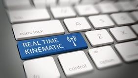Botón cinemático en tiempo real en el teclado de ordenador stock de ilustración