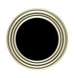 Botón circular con el marco del metal imagenes de archivo