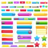 Botón colorido del Web ilustración del vector