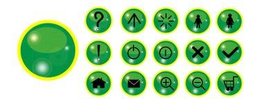 Botón con brillo Foto de archivo libre de regalías