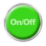 Botón con./desc. Foto de archivo