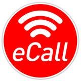 Botón con el sistema de la llamada de Emergeny de la llamada de E ilustración del vector