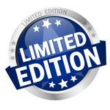 Botón con la edición de Banner Limited Fotos de archivo