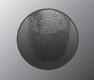 Botón con la huella digital Fotografía de archivo libre de regalías