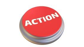 Botón con la palabra ACCIÓN en la acción ilustración del vector