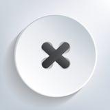 Botón cosido ilustración del vector