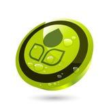 Botón creciente verde Imagen de archivo