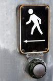 Botón cruzado de la caminata Fotografía de archivo libre de regalías