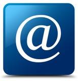 Botón cuadrado azul del icono de la dirección de correo electrónico ilustración del vector