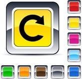 Botón cuadrado de la recarga. imágenes de archivo libres de regalías