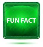 Botón cuadrado verde claro de neón del dato divertido ilustración del vector