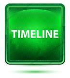 Botón cuadrado verde claro de neón de la cronología stock de ilustración