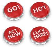 botón 3d stock de ilustración