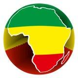 Botón de África Imagenes de archivo